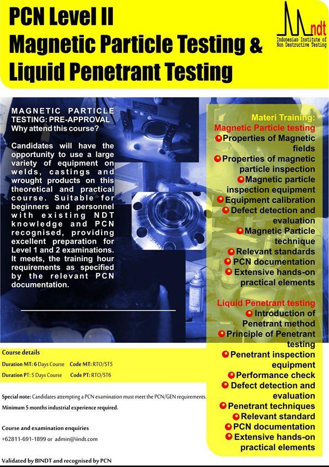 Magnetic Particle Testing & Liquid Penetrant Testing